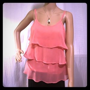 Bongo Salmon Tiered Camisole Size Small